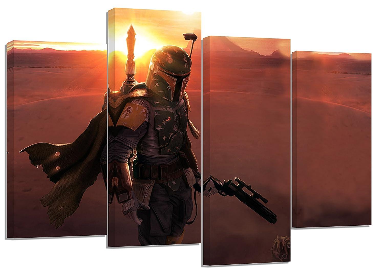 Amazon.de: Star Wars Boba Fett 2/Set von 4 neue Leinwand Split ...