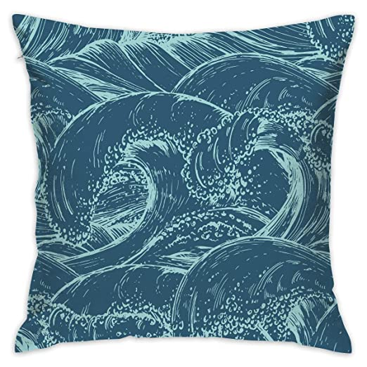 shizh Ocean Wave Decor Throw Pillow Cover Funda de cojín de ...
