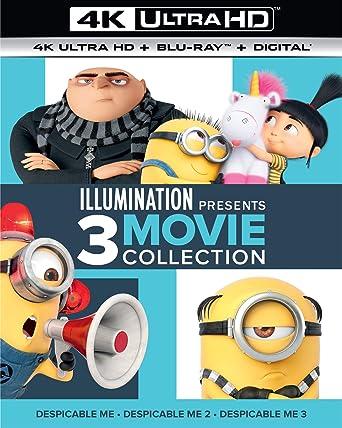 Illumination Presents: 3-Movie Collection (Despicable Me / Despicable Me 2 / Despicable Me 3) - 4K Ultra HD + Blu-ray + Digital