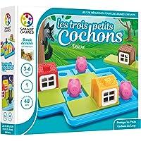 Smart Games Les Trois Petits Cochons - Deluxe Preescolar Niño/niña - Juegos educativos, Preescolar, Niño/niña, 3 año(s), 6 año(s), 48 Pieza(s)