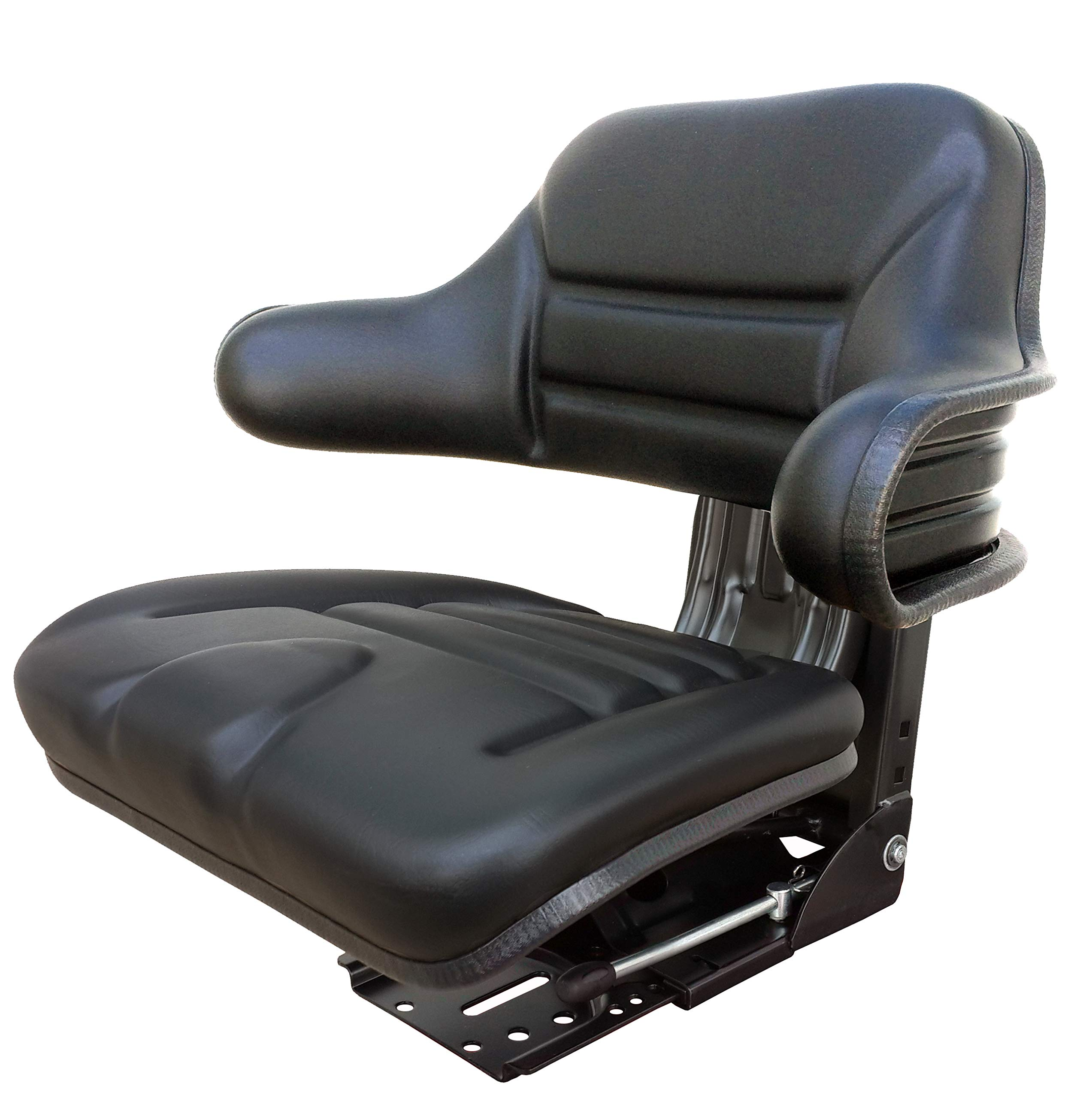 Star ECO 104 Black Universal Suspension Slide Adjustment Tractor Seat (Replacement for Several)