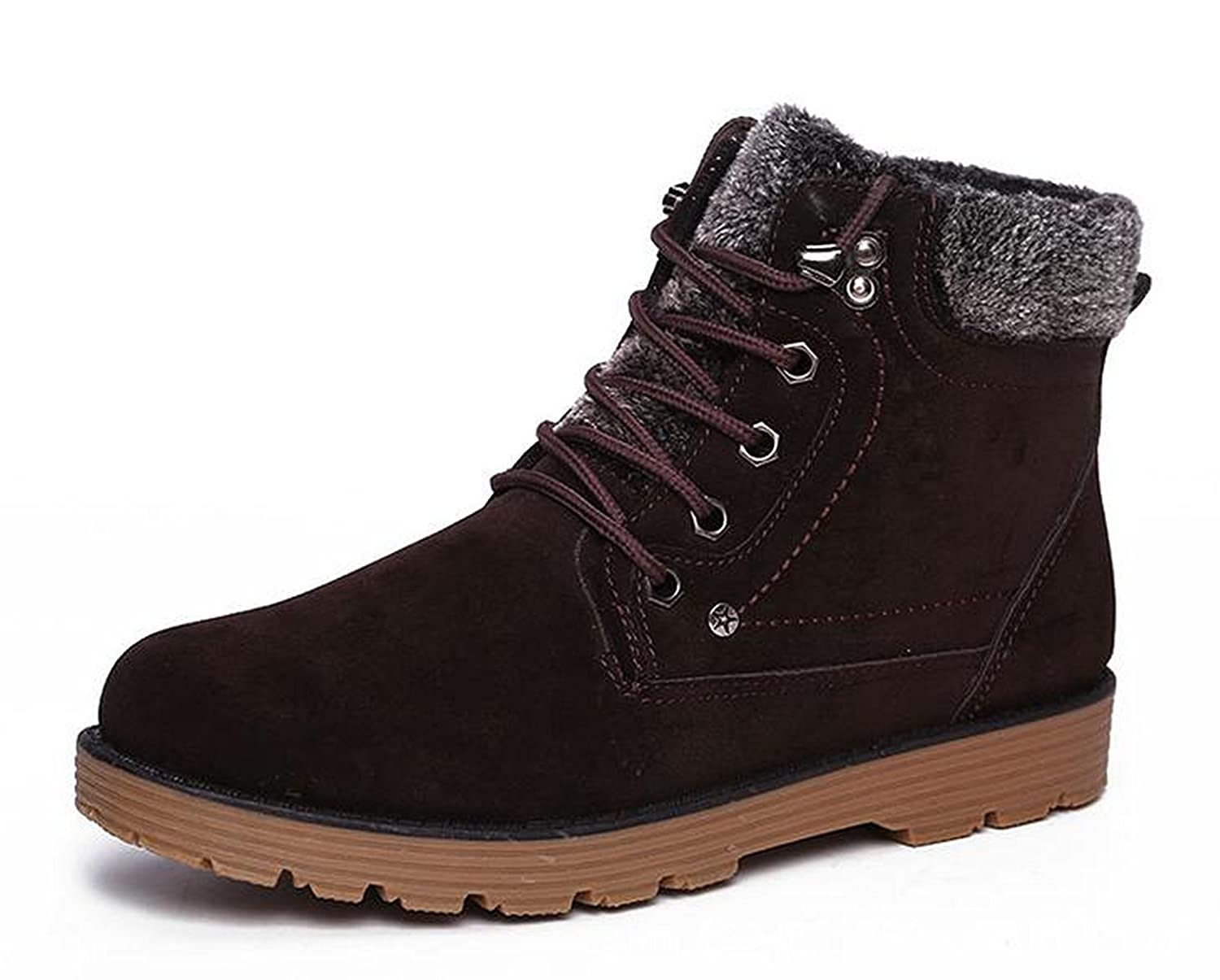Yougao® Men's Winter Lace-up Ankle Waterproof Fur Snow Boots