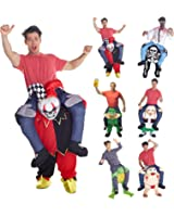 Novelty Piggyback Piggy back Funny Carry Me Costume Unisex - With Stuff Your Own Legs