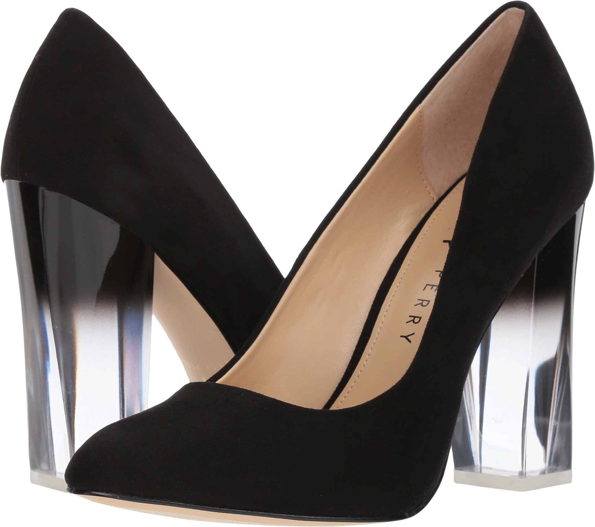 Katy Perry Women's The A.W. Black Microsuede 7 M US