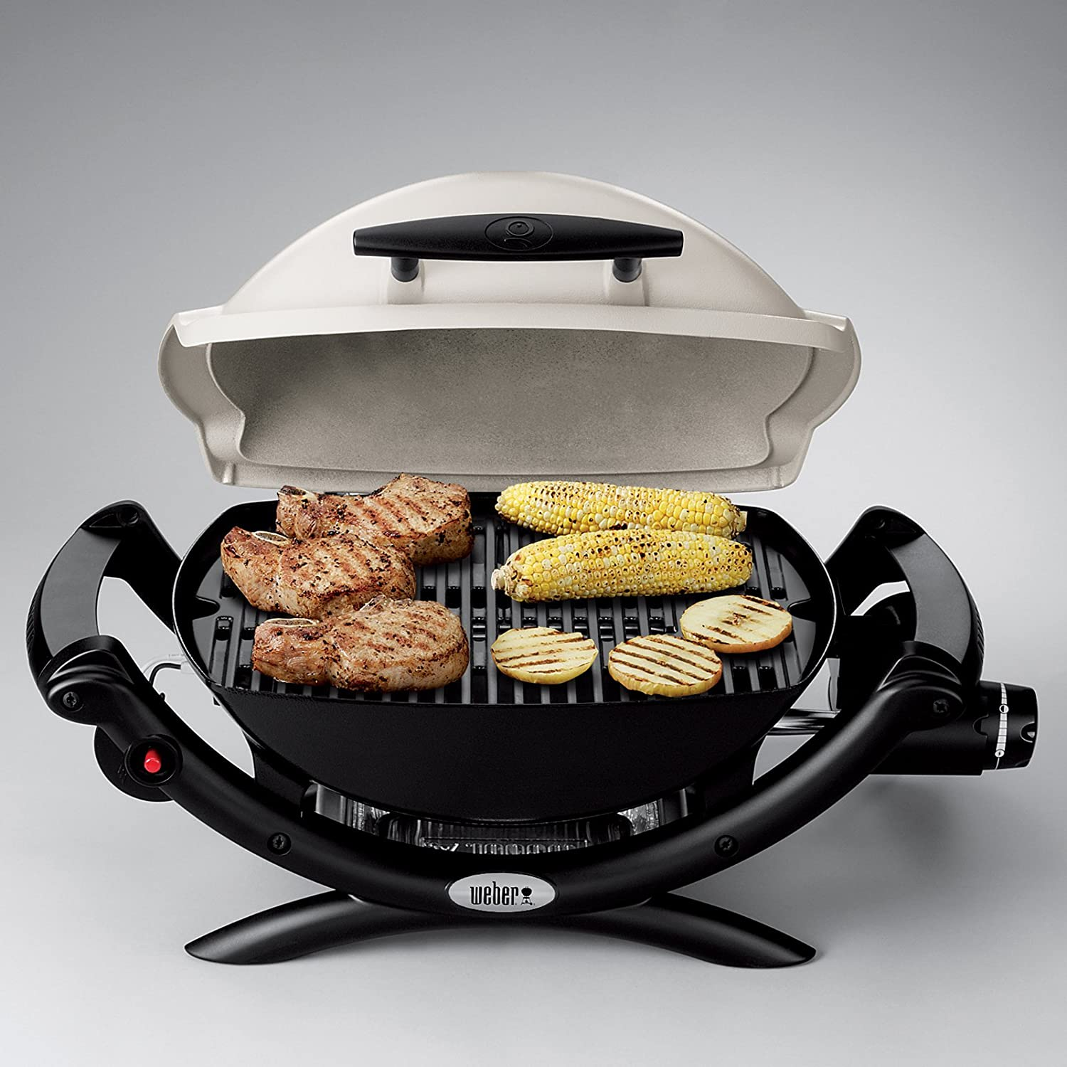 amazon com weber q1000 gas grill ti home improvement