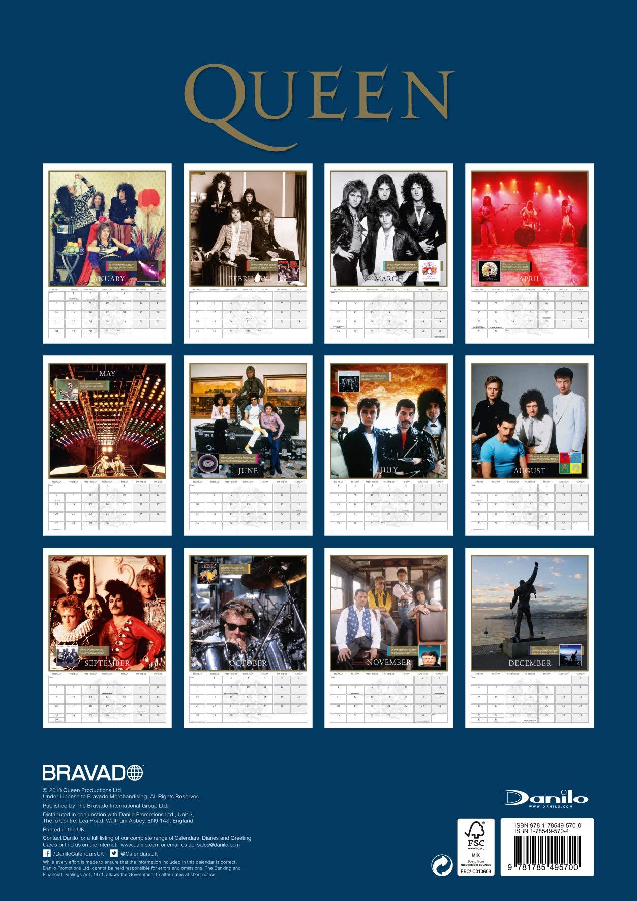 Calendario 1978 Mexico.Queen Official 2019 Calendar A3 Wall Calendar Format