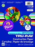 "Pacon Tru-Ray Construction Paper, 9"" x 12"", 500-Count, Assorted (6588)"