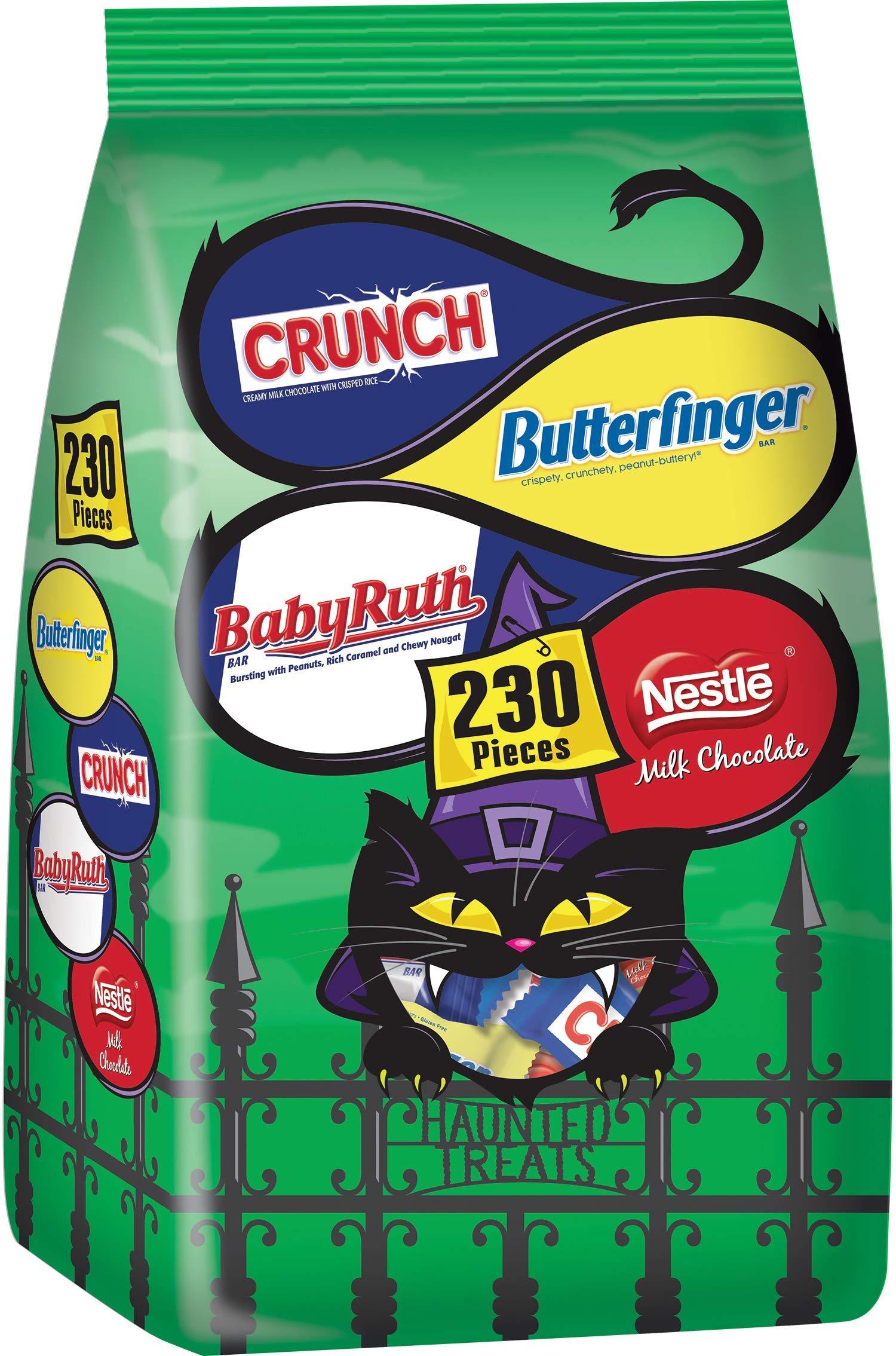 Nestle Assorted Bulk Chocolate Halloween Candy Bag, Fun Size Mix of Butterfinger, Crunch, Baby Ruth & Nestle Milk Chocolate Bars, 88 Ounce by Nestle