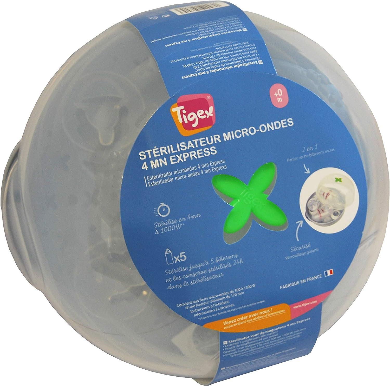 Tigex - Esterilizador de Vapor para Biberones Apto para Microondas ...