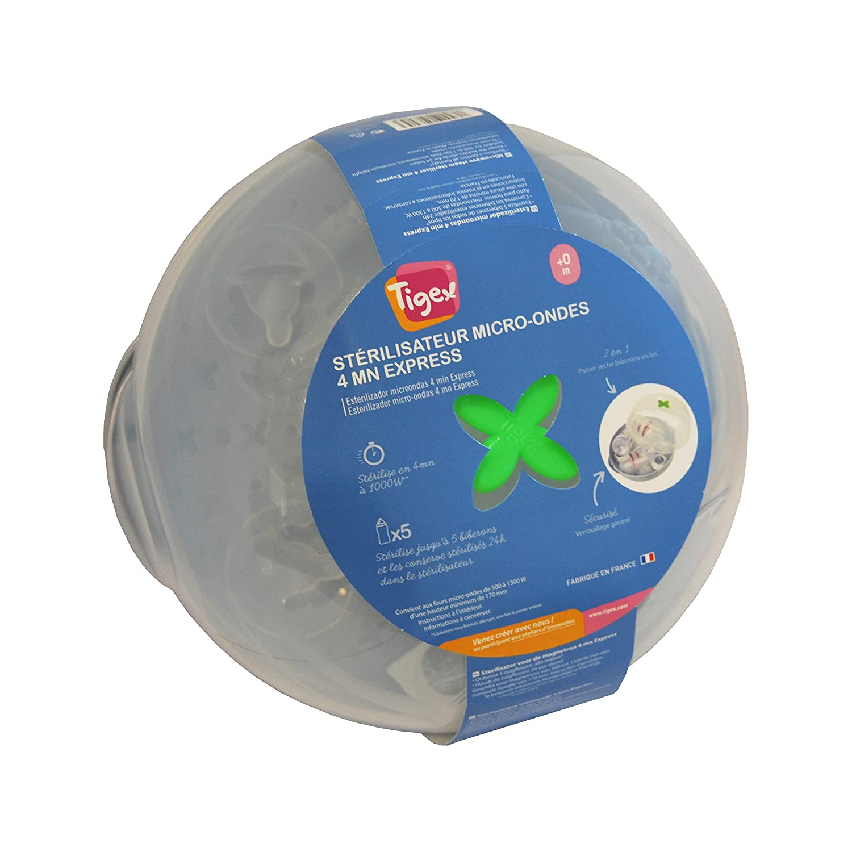 Tigex - Esterilizador de Vapor para Biberones Apto para Microondas