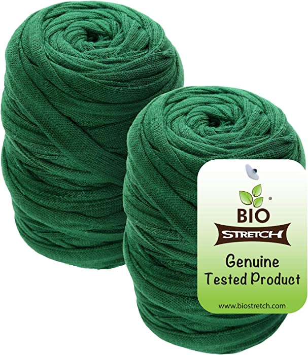 Biostretch, Soft Stretchy Garden Twine Environmentally Smart Non Twist Wire Plant Ties (Bio Roll x 2)