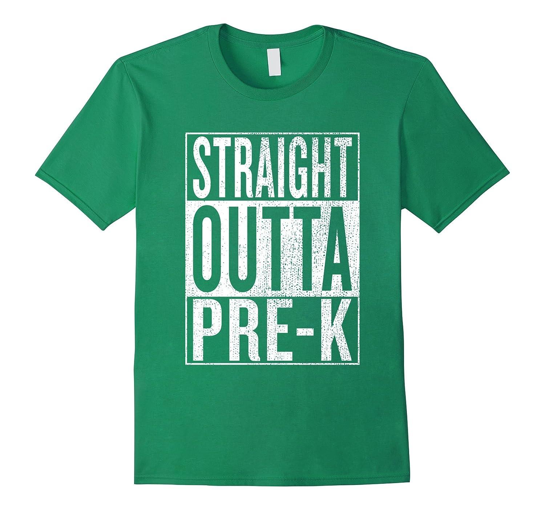 Straight Outta Pre-K  Pre-K Grad Tee Graduation Gift Shirt-Awarplus