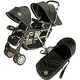 Poussette double sport noire Top Design - BambinoWorld