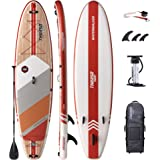 THURSO SURF Inflatable Stand Up Paddle Board All-Around SUP Waterwalker 132 11'×32''×6'' Deluxe Package | Carbon Shaft Paddle