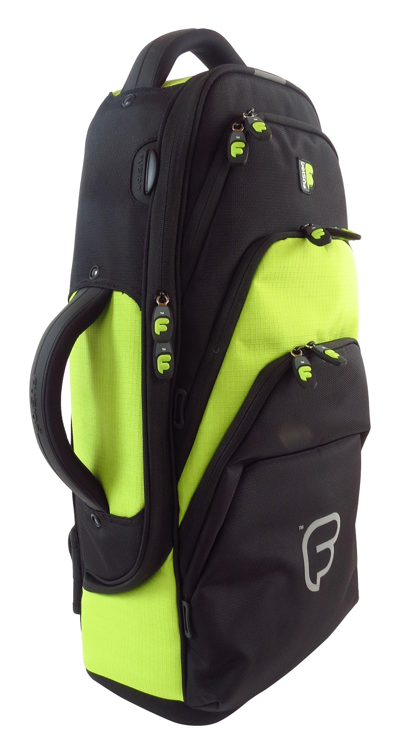 Fusion Premium Series (FB-PW-01-L) - Alto Saxophone Gig Bag, Black/Lime