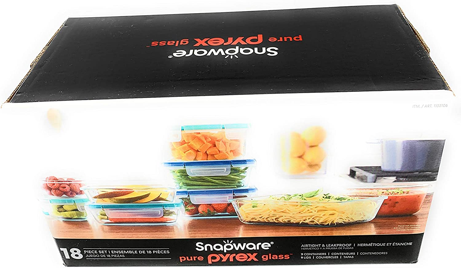Snapware Pure Pyrex 18-piece Glass Food Storage Set