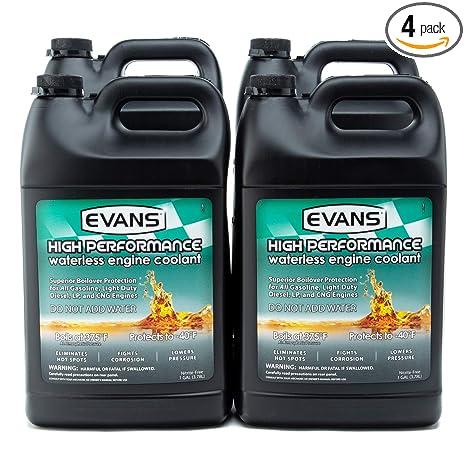 EVANS Coolant EC53001 High Performance Waterless Coolant, 4 Gallon Pack