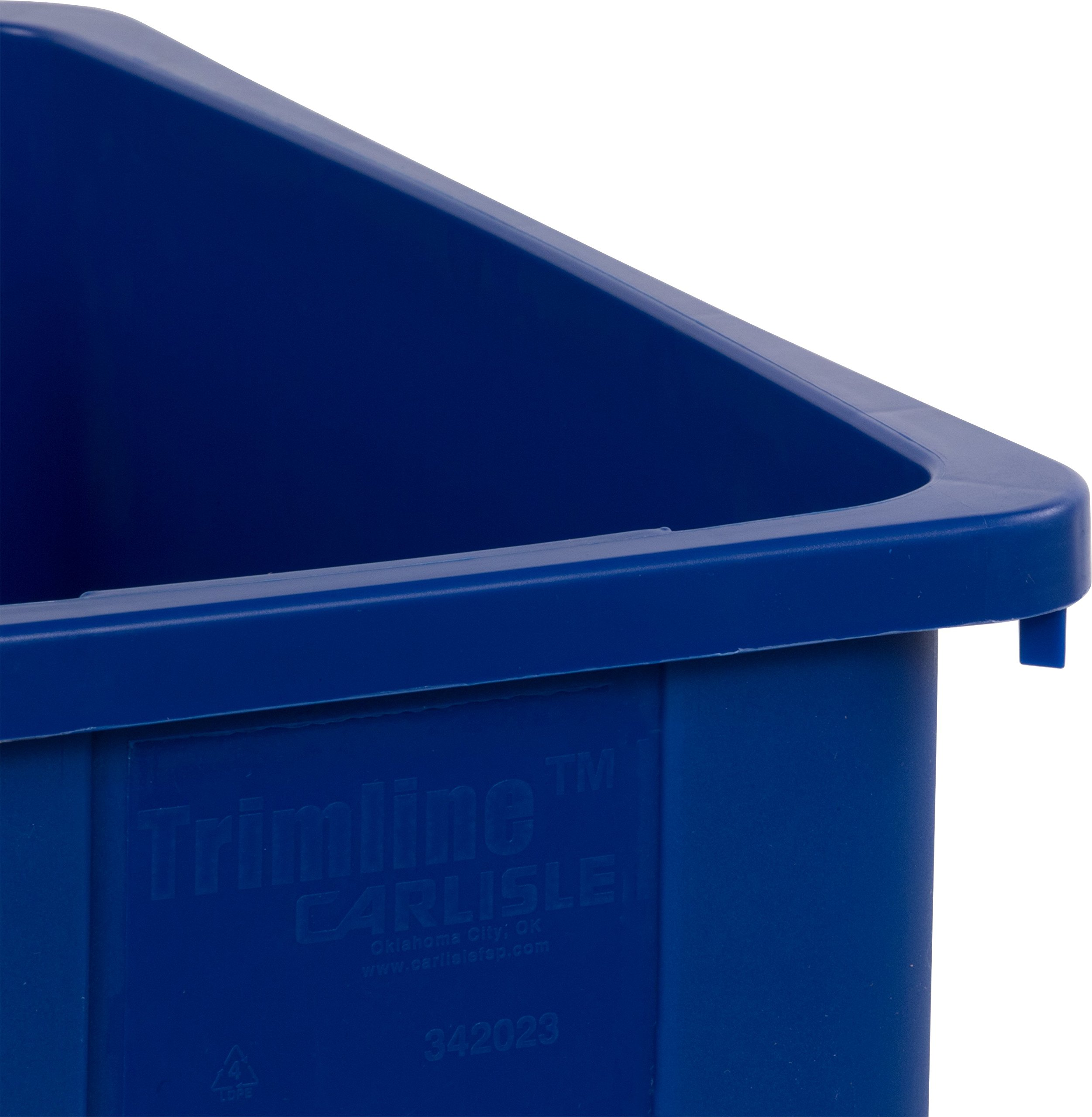 Carlisle 342023REC14 TrimLine LLDPE Recycle Can, 23 Gallon Capacity, 20'' Length x 11'' Width x 29.88'' Height, Blue by Carlisle (Image #3)