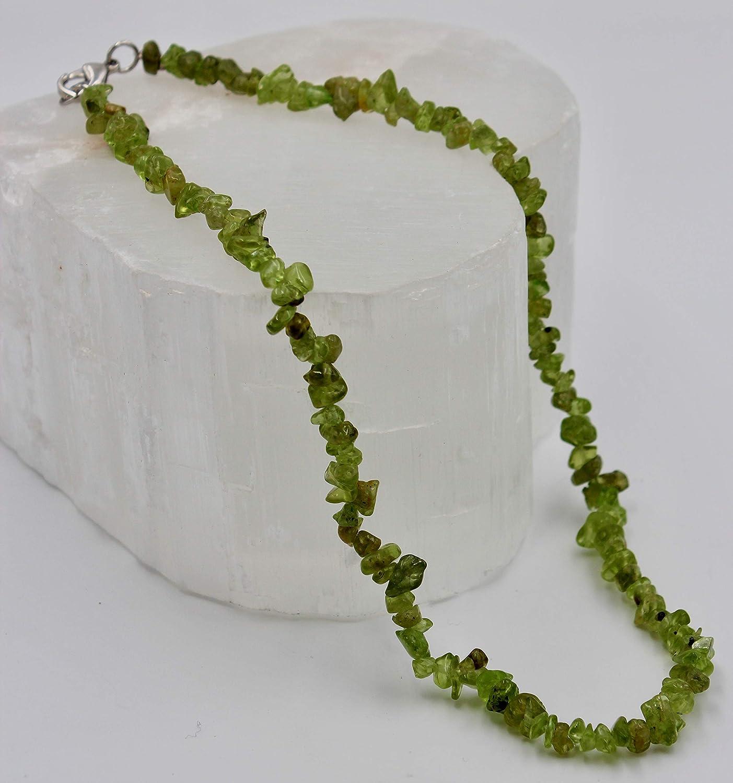 Taddart Minerals Collier en pierre pr/écieuse naturelle de 45 cm de longueur Fait /à la main