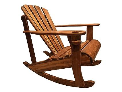 Fabulous Handmade Outdoor Adirondack Teak Rocking Chair Download Free Architecture Designs Rallybritishbridgeorg