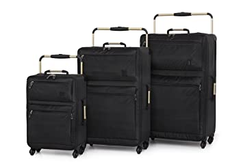 IT Luggage World's Lightest Set of 3 Four Wheel Spinner Suitcases ...