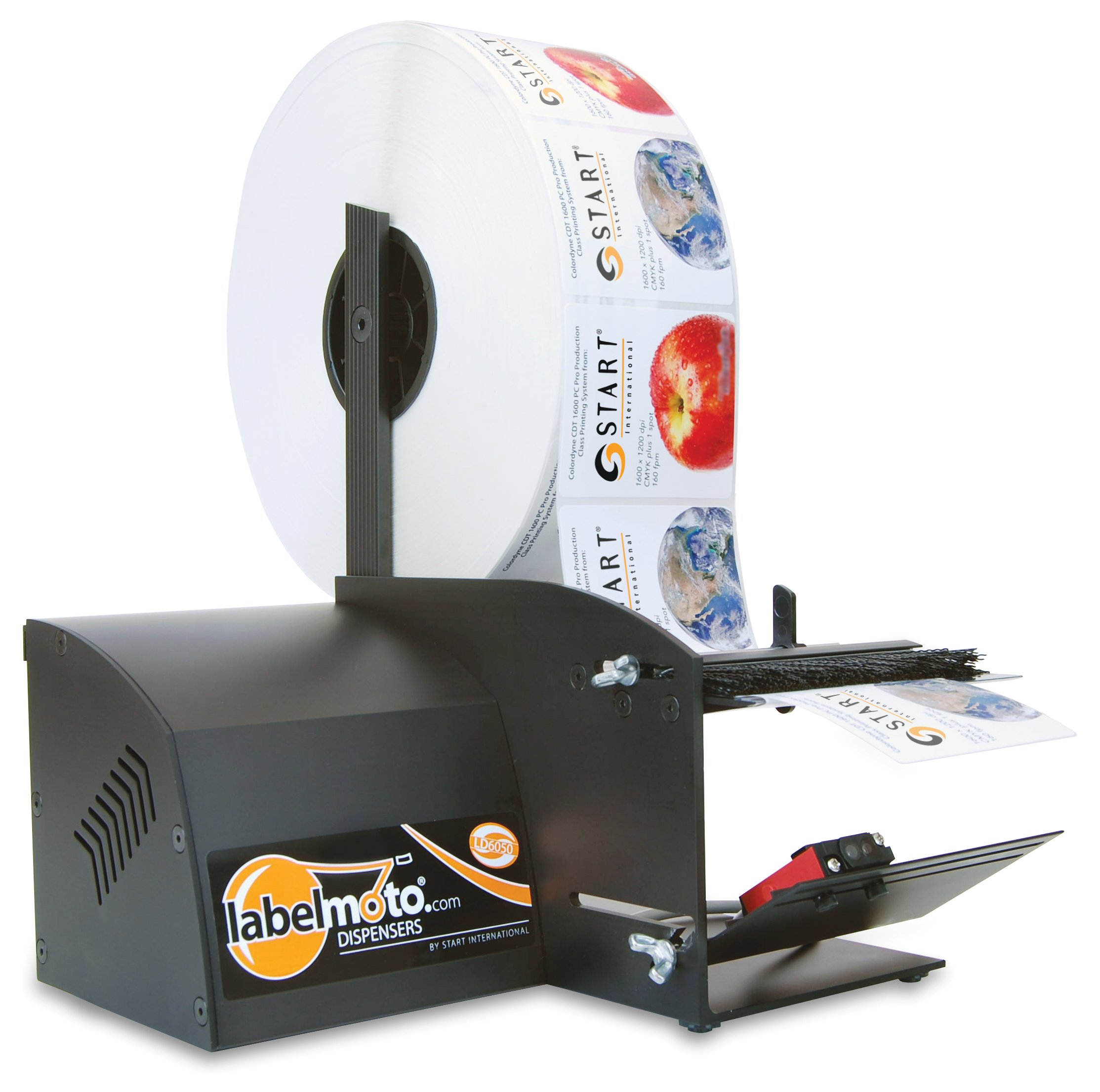 START International LD6050 High-Speed Electric Label Dispenser for up to 4.5'' (114mm) wide labels.