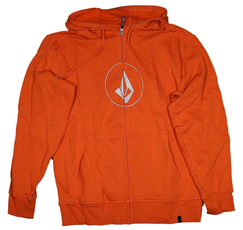 Amazon.com: Volcom New Stone Basic Zip Hoody - Burnt Orange - XL ...