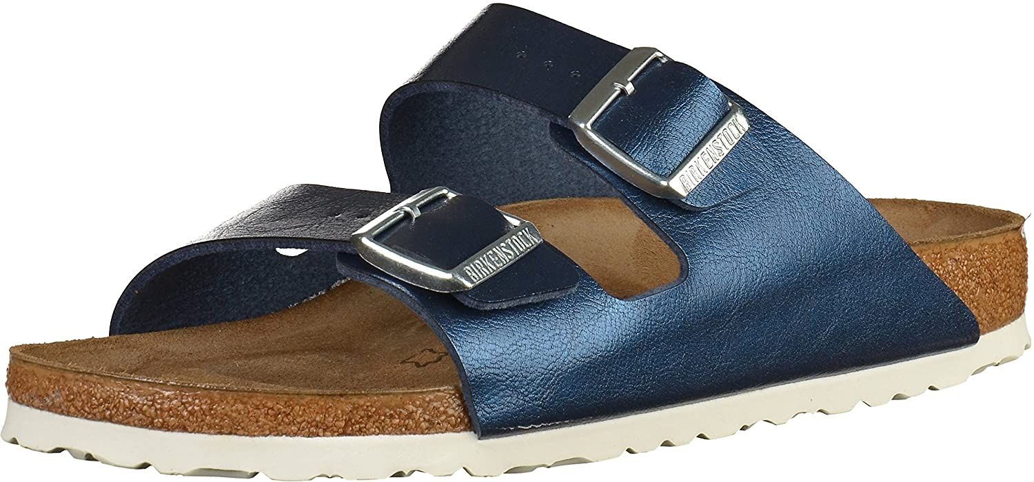 Birkenstock Arizona Birko-Flor, Zuecos para Mujer 38 EU|Blau(Graceful Sea)