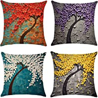 Pillow Covers 18x18 inch for Home Decor Set of 4 Throw Pillow Covers Square Cushion Case for Sofa Couch Home Decoration…
