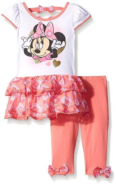 e44677a9b0e Amazon.com  Disney Girls  Minnie Mouse 2-Piece Legging Set