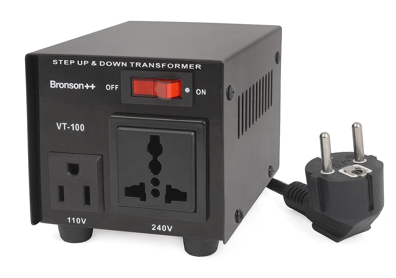 Bronson++ VT 100 - Transformador Elevador / Reductor de Voltaje de 100 Vatios EE.UU.: Amazon.es: Electrónica