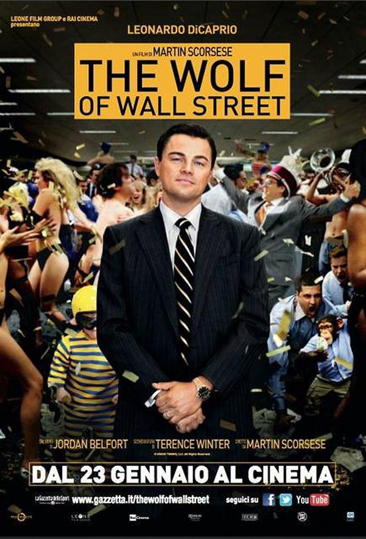 Poster Druck Grösse 70x100 cm Wolf of Wall Street Italian One Sheet