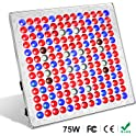 Toplanet 75-Watt Red Blue LED Full Spectrum Hanging Grow Light