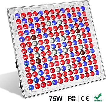 Toplanet 75-Watt Red Blue LED Full Spectrum Hanging Grow Light