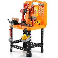 Deals on Toy Chois 82 Pieces Kids Construction Toy Workbench