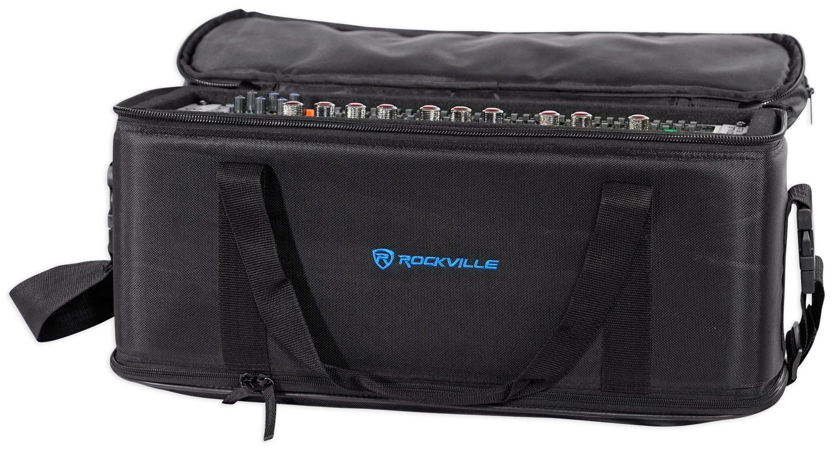 Rockville 3U Rack Bag Double-Sided Case with 12'' Depth + Shoulder Strap (RRB30) by Rockville (Image #4)