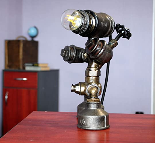 Robot Lamp Copper Pipe Lamp Shade Building Light Fixtures Cabin Light  Fixtures For Sale Charleston Lanterns Lighting Country End Table Lamps  Country ...
