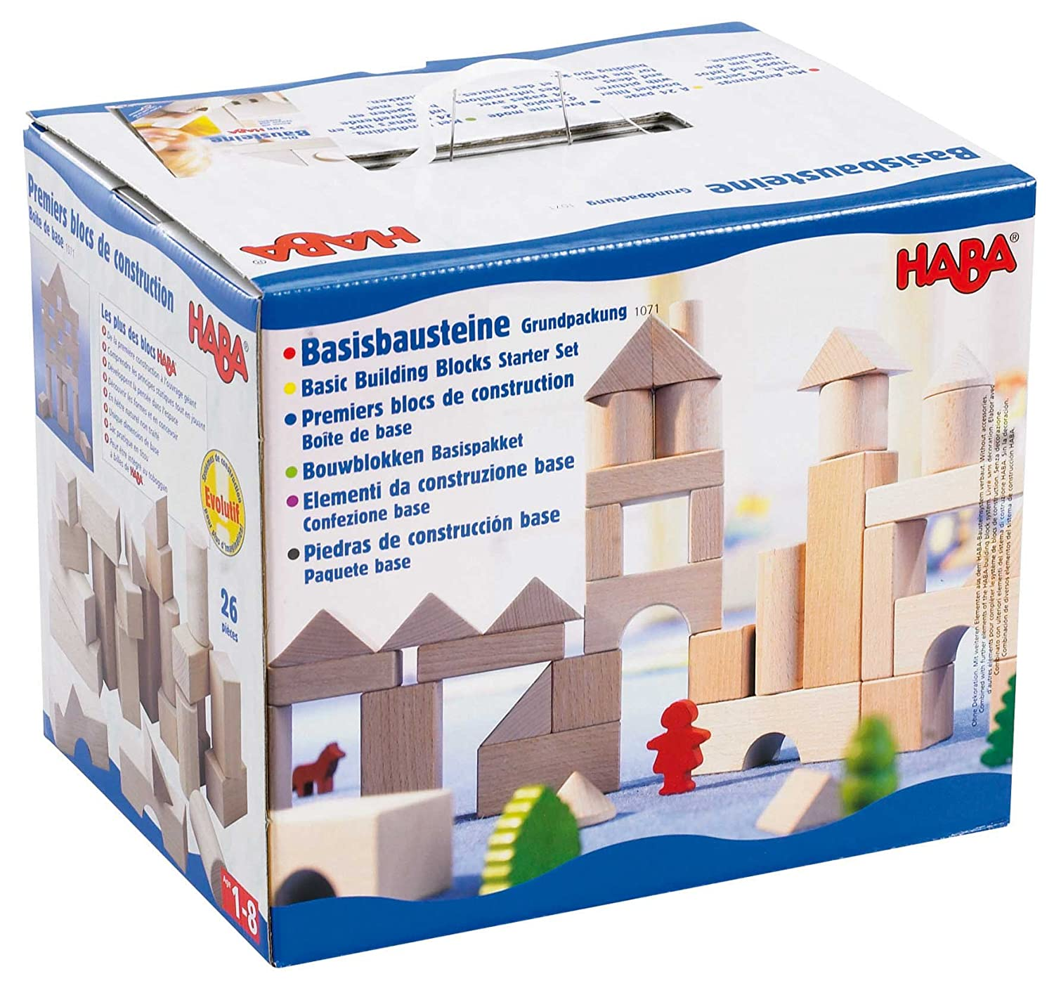 HABA Basic Building Blocks 26 Piece Starter Set Made in Germany 1071