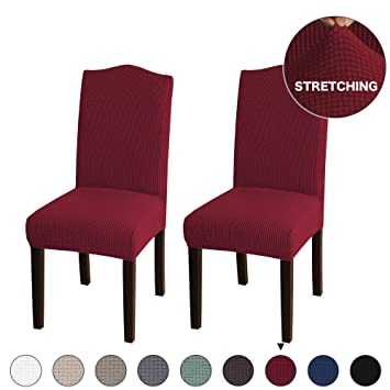 Armless Chair Slip Covers for Dining Room Jacquard Dining Room Chair  Slipcovers Sets Washable Removable Chair Slipcover Dining Chair Protector  Cover ...