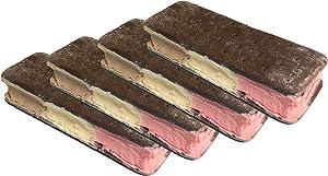 HM Freeze Dried Ice Cream Food - Neapolitan 4 Pack - Classic Vanilla, Chocolate and Strawberry Ice Cream