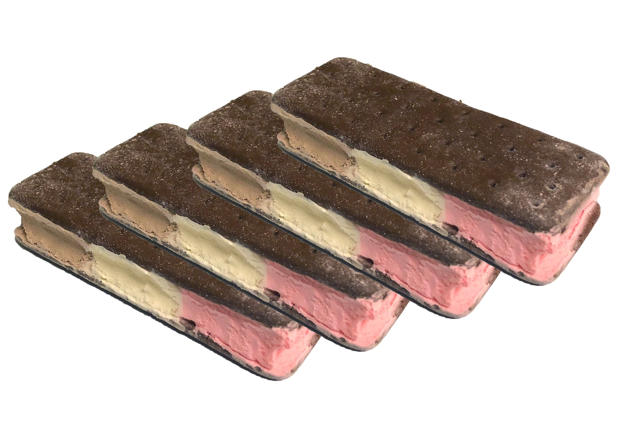 Freeze Dried Ice Cream Food - Neapolitan 4 pack - Classic Vanilla, Chocolate and Strawberry Ice Cream