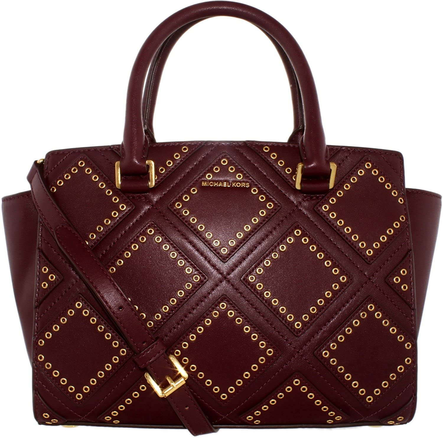 3ad700e746d6 Amazon.com  MICHAEL Michael Kors Women s Diamond Grommet Selma Top Zip  Satchel