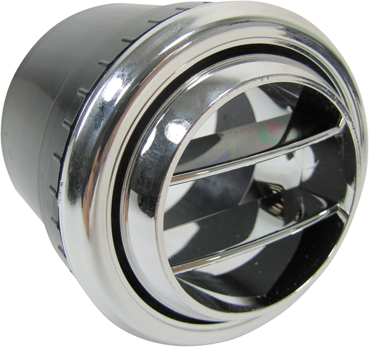 Indash Round Chrome Vent//Louver for 2 Duct Hose #32-13