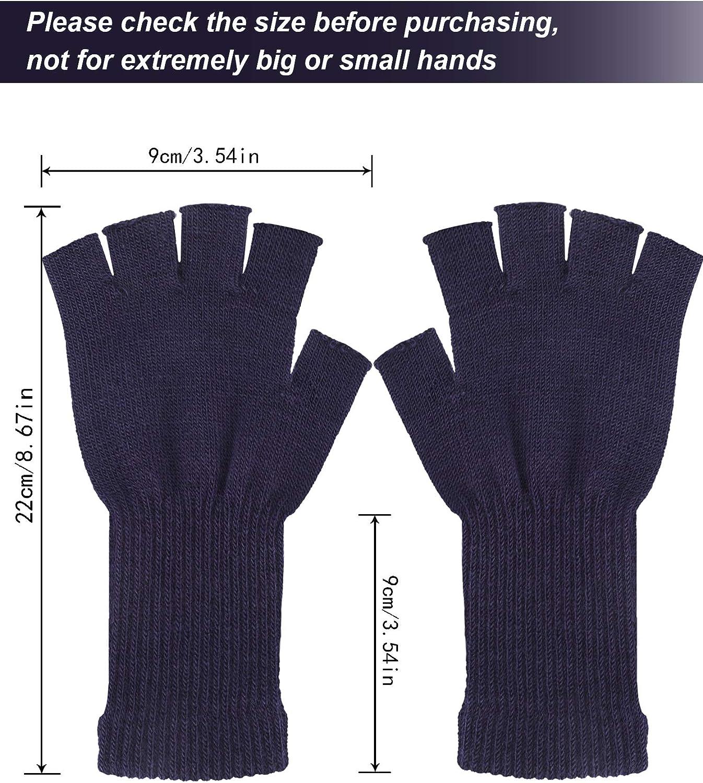 FSXZM Hiver tricot/é Gants sans Doigts Belle Mignon Hibou Demi-Doigt Gants Dessin anim/é Enfants Gants Doux Chaud mitaine pour Enfants Adultes