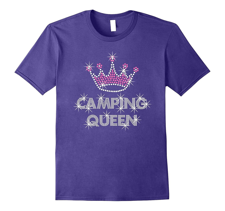 Camping T-shirts Womans glamping camp shirt-CD