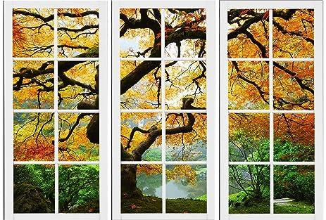 Amazon.com: Startonight Canvas Wall Art Maple At Window, Windows USA ...