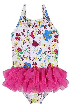 e588e8a1904b Amazon.com  belamo Baby Girl s One Piece Swimsuit Polka Dot Skirt ...