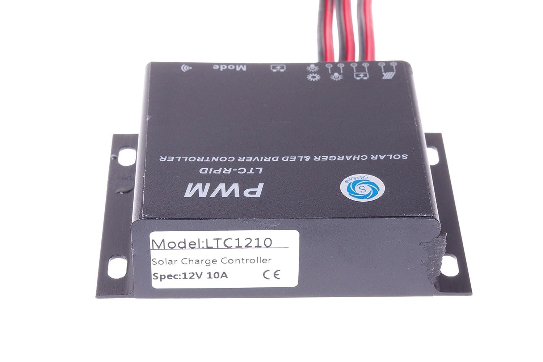 Smakn 12v 10a 70w Mppt Solar Battery Charge Controller Circuit Waterproof Ip68 Garden Outdoor