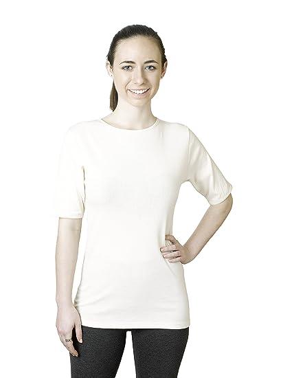 Rosette Women's Classic Short Sleeve Crew Neck Tee Undershirt, 100% Cotton,  Small,