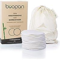 boopan® 12 Abschminkpads waschbar aus Bambus inkl. Wäschebeutel | Zero Waste Make up Entferner Pads | Wattepads wiederverwendbar zur sanften Gesichtsreinigung | inkl. Hautpflege-Guide